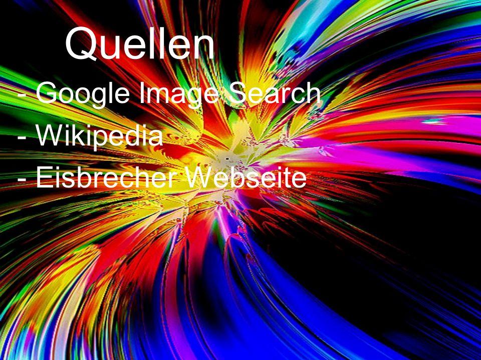 Quellen Google Image Search Wikipedia Eisbrecher Webseite