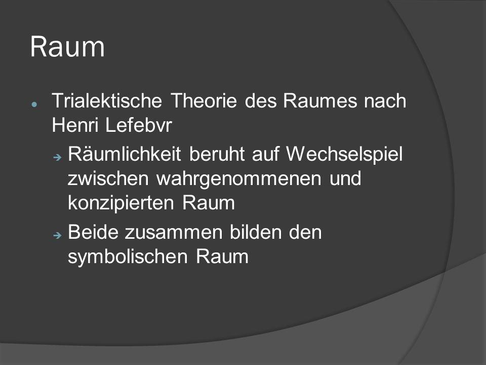 Raum Trialektische Theorie des Raumes nach Henri Lefebvr
