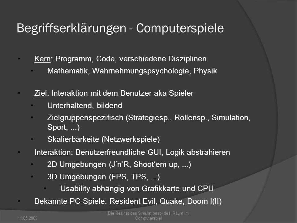 Begriffserklärungen - Computerspiele