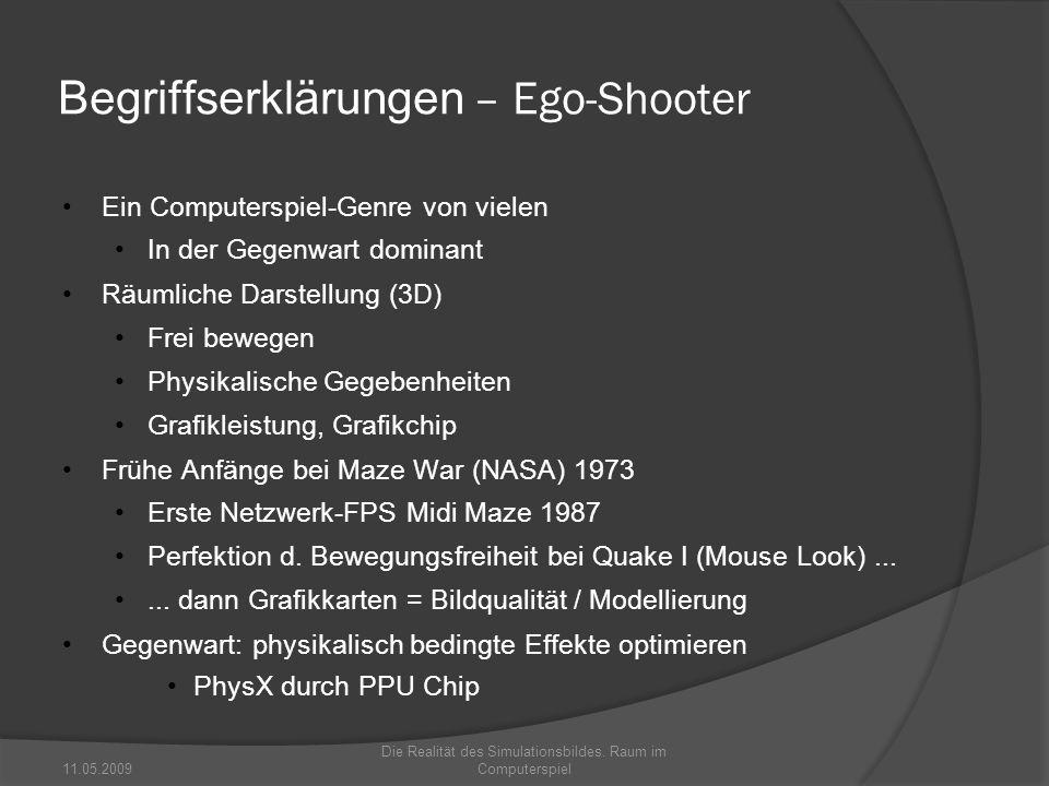 Begriffserklärungen – Ego-Shooter