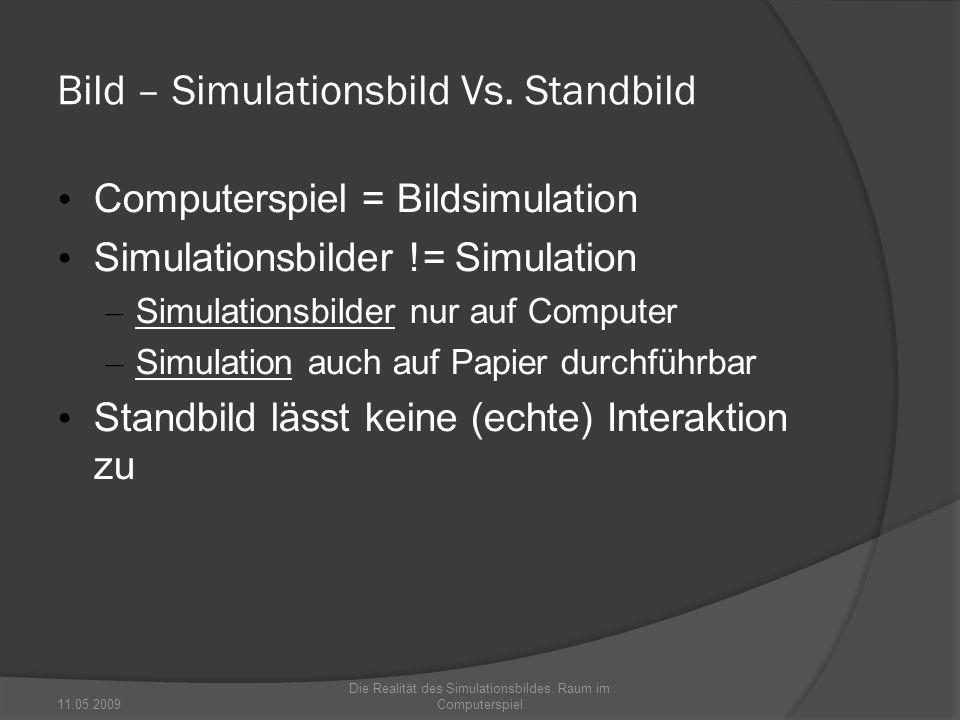 Bild – Simulationsbild Vs. Standbild