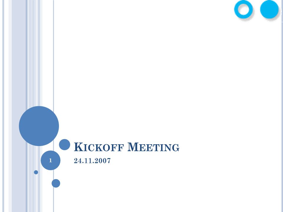 Kickoff Meeting