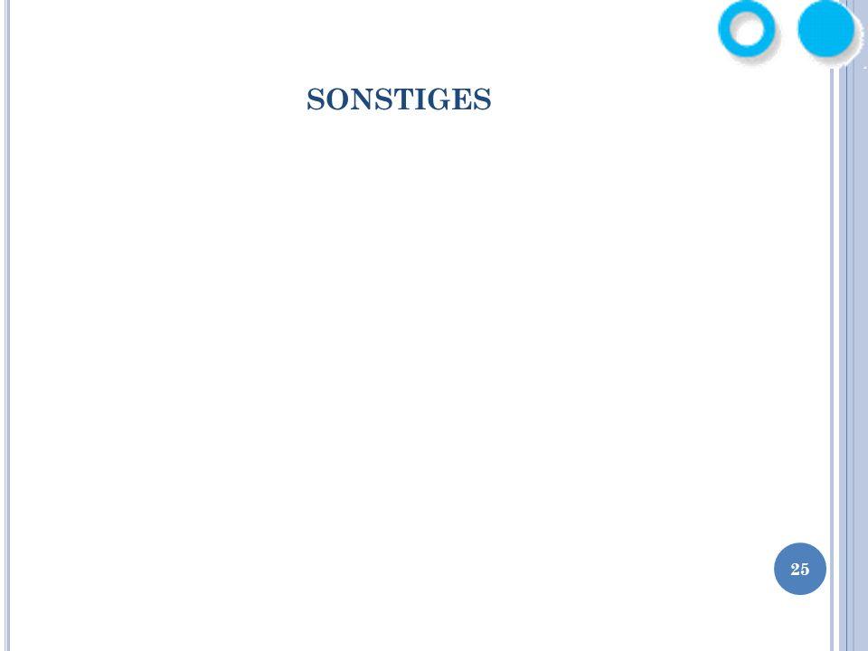 SONSTIGES 25
