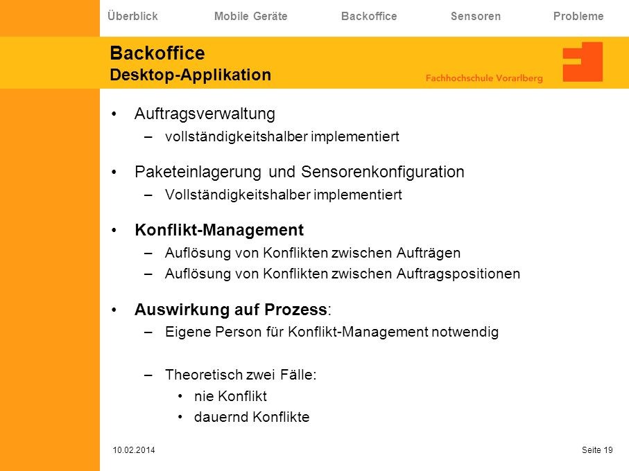 Backoffice Desktop-Applikation