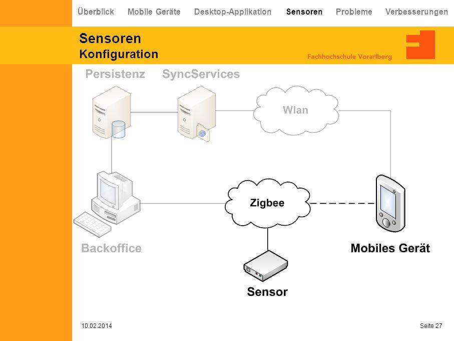 Sensoren Konfiguration