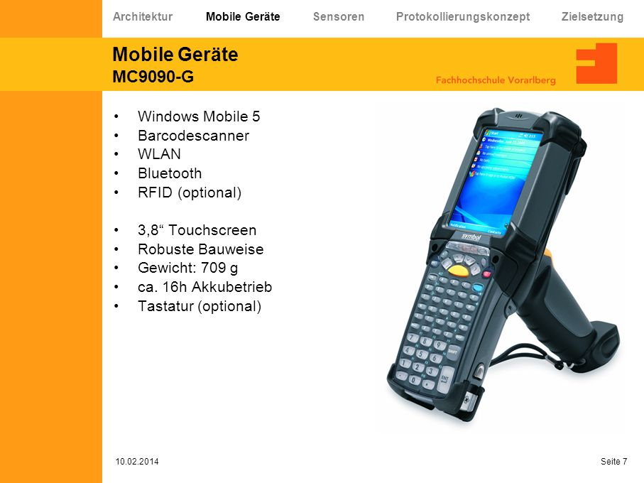 Mobile Geräte MC9090-G Windows Mobile 5 Barcodescanner WLAN Bluetooth