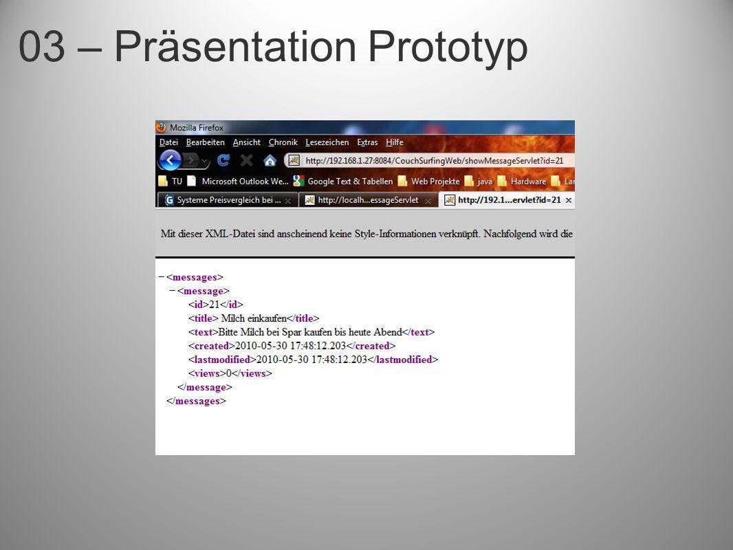 03 – Präsentation Prototyp