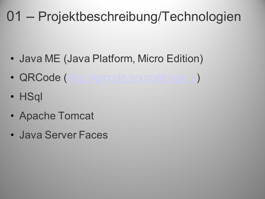 01 – Projektbeschreibung/Technologien