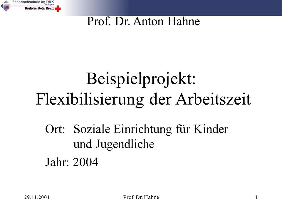 Beispielprojekt: Flexibilisierung der Arbeitszeit