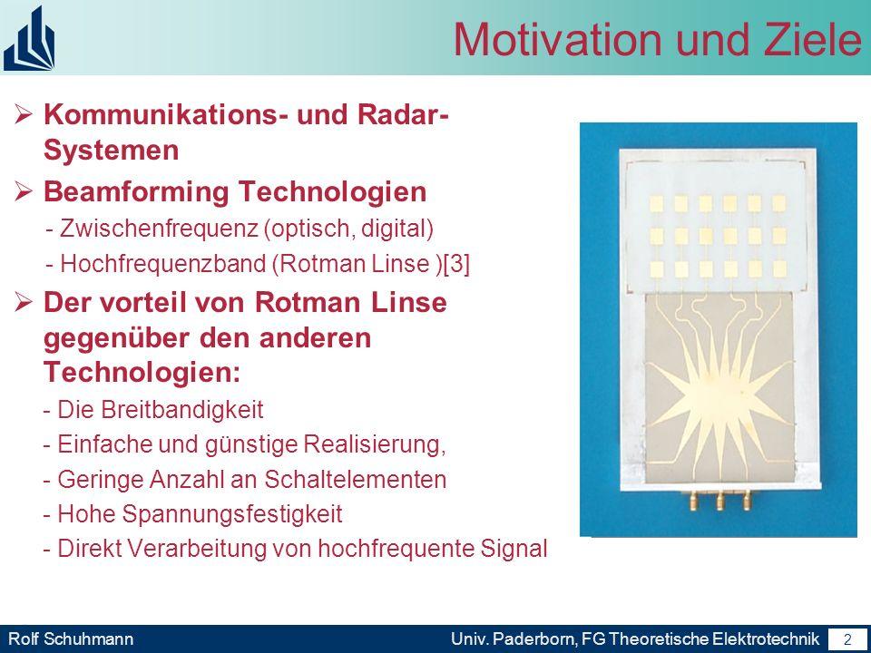 Motivation und Ziele Kommunikations- und Radar-Systemen