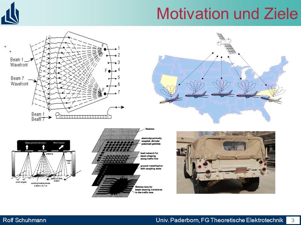 Motivation und Ziele . .