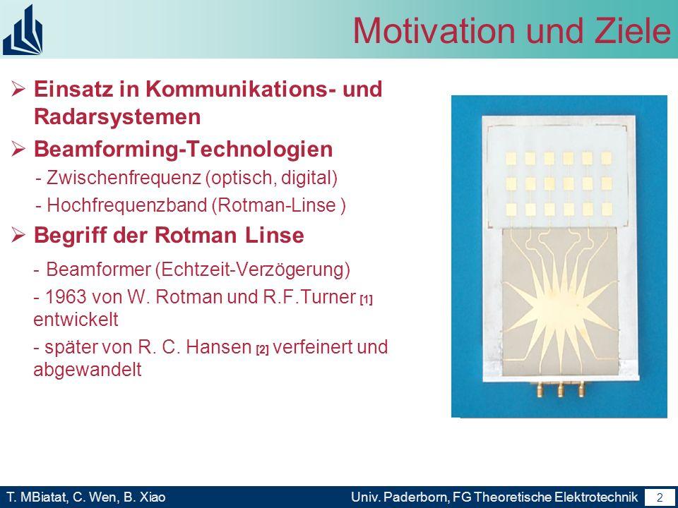 Motivation und Ziele Einsatz in Kommunikations- und Radarsystemen