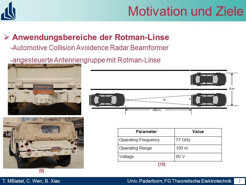 Motivation und Ziele Anwendungsbereiche der Rotman-Linse