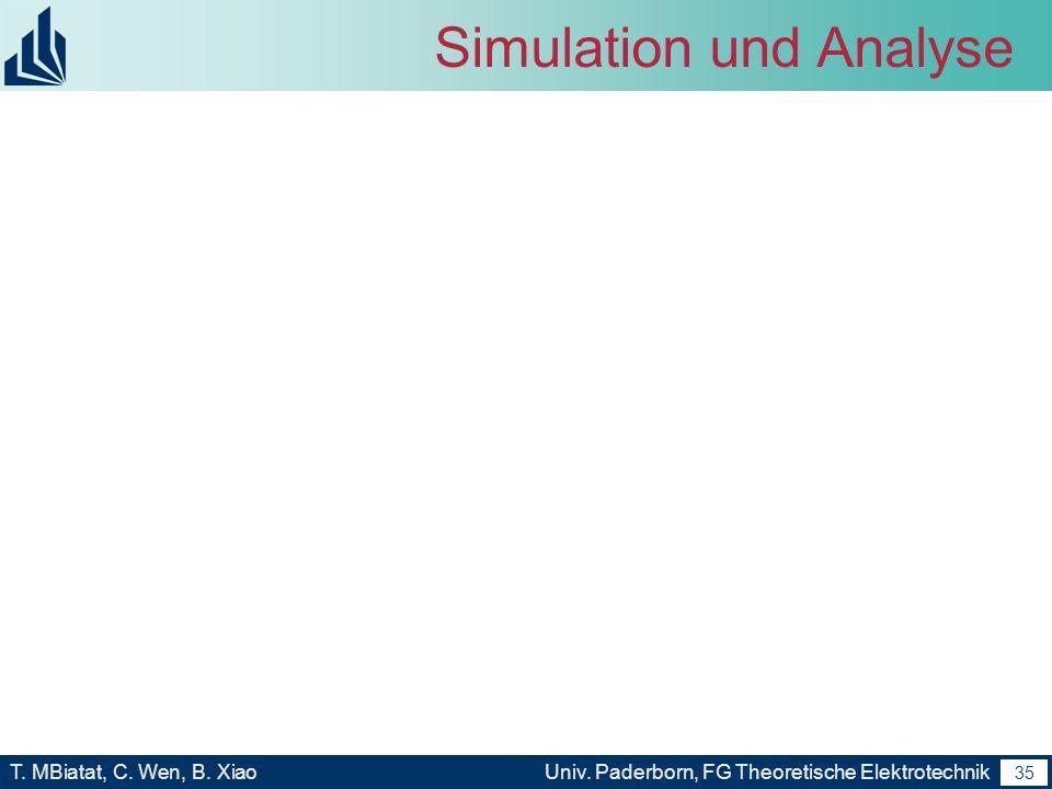 Simulation und Analyse
