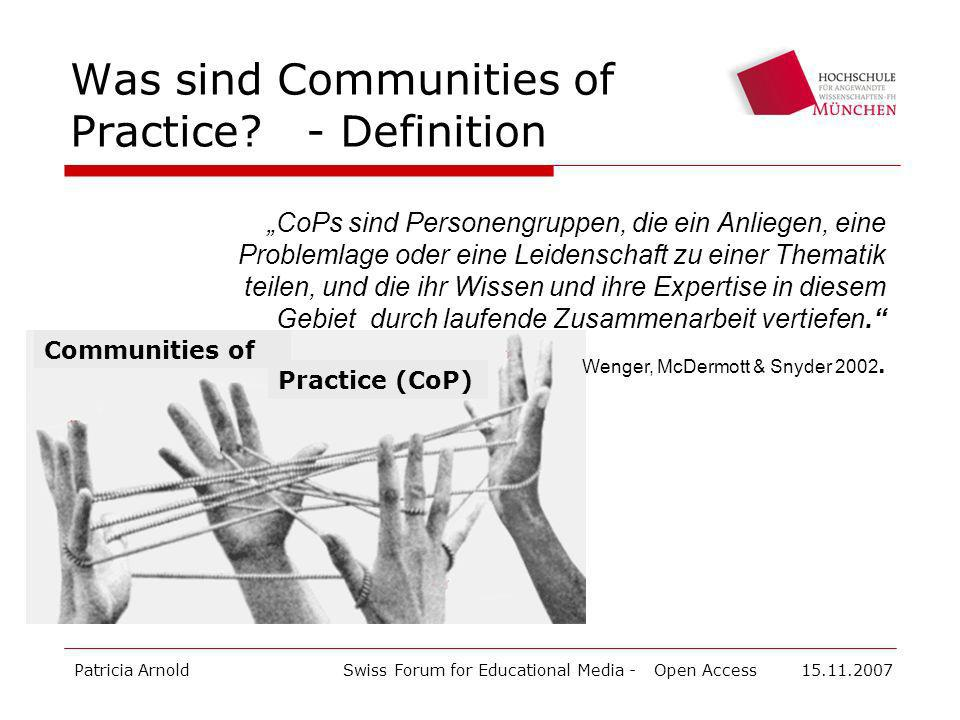 Was sind Communities of Practice - Definition