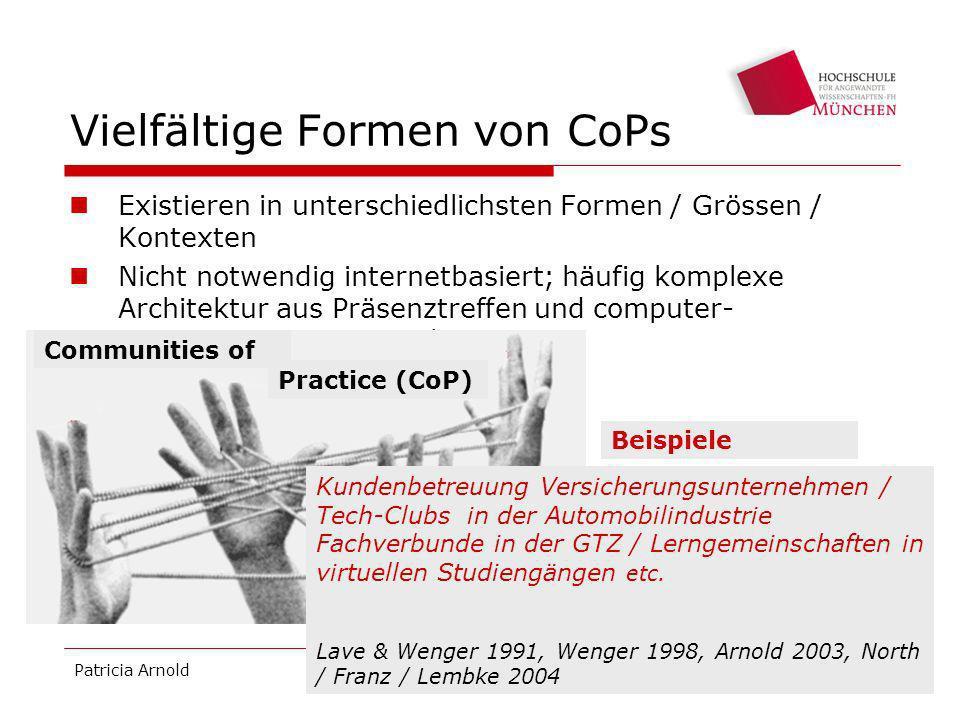 Vielfältige Formen von CoPs