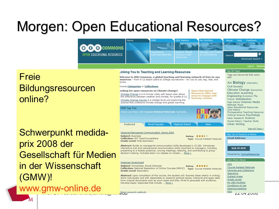 Morgen: Open Educational Resources