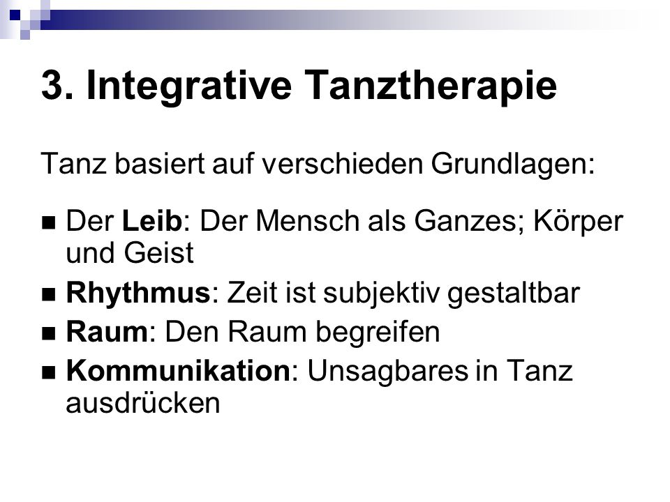 3. Integrative Tanztherapie