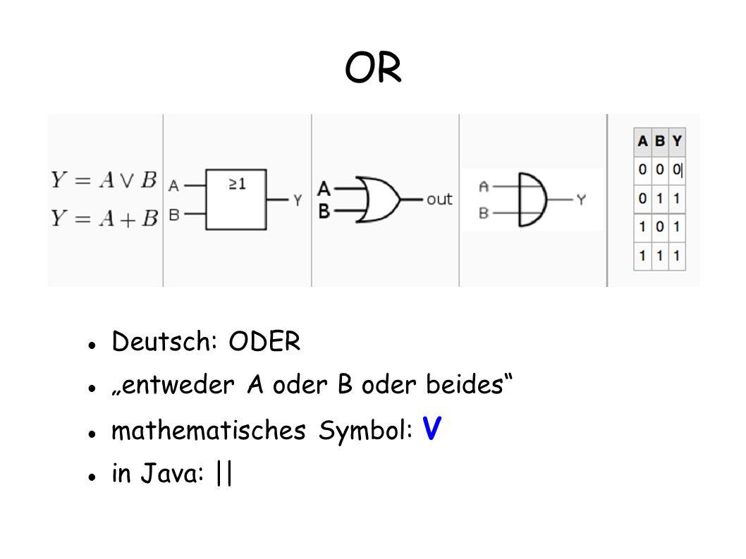 """OR Deutsch: ODER """"entweder A oder B oder beides"""