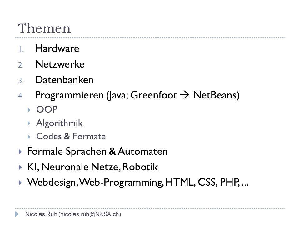 Themen Hardware Netzwerke Datenbanken