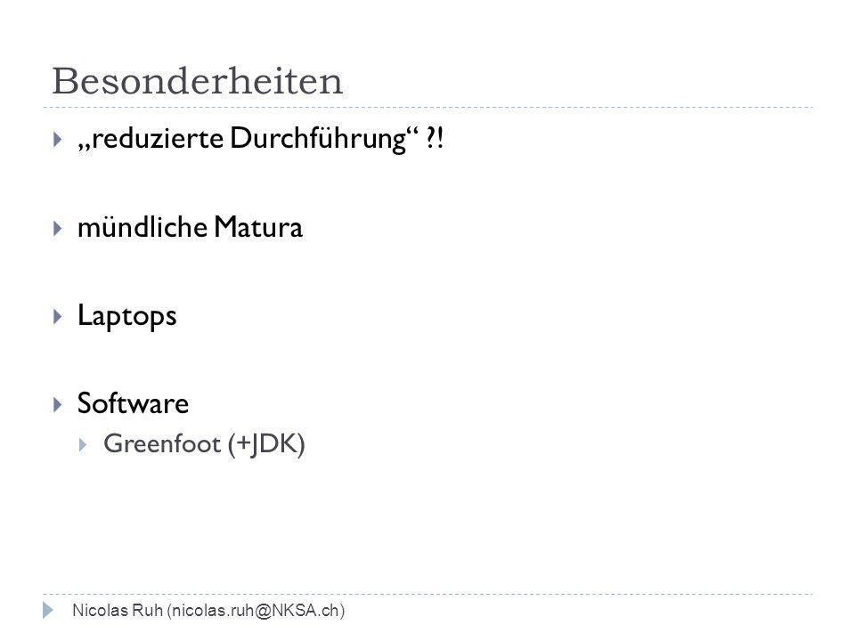 """Besonderheiten """"reduzierte Durchführung ! mündliche Matura Laptops"""