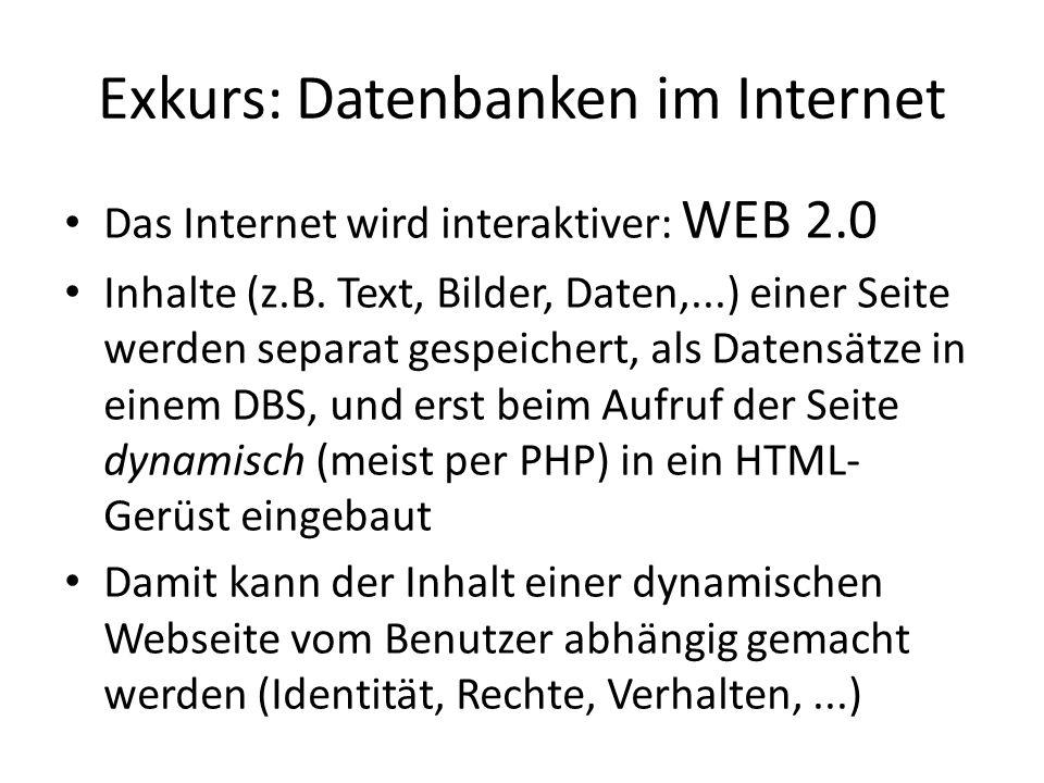 Exkurs: Datenbanken im Internet