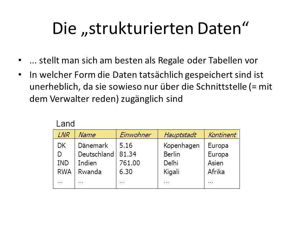 """Die """"strukturierten Daten"""