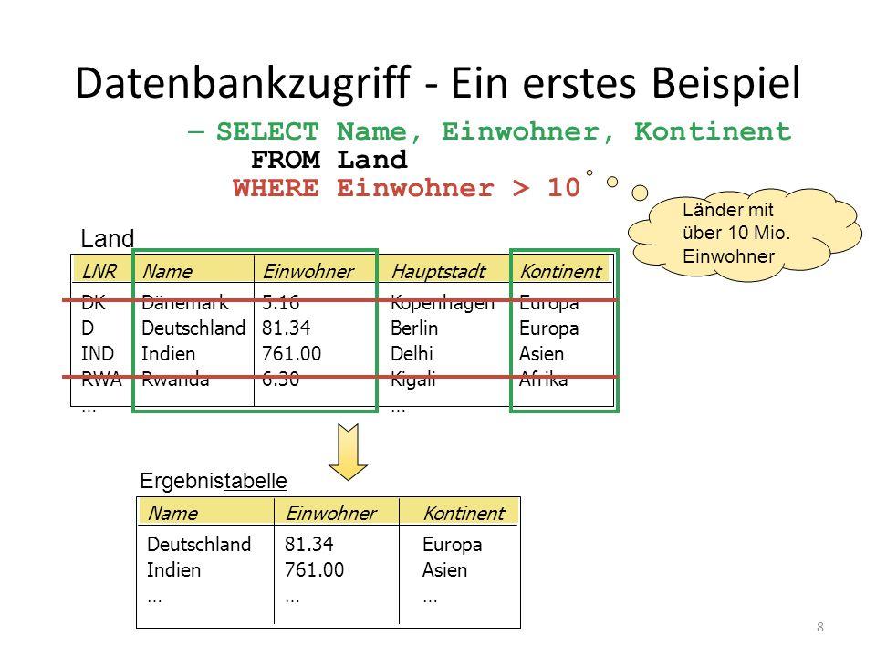 Datenbankzugriff - Ein erstes Beispiel