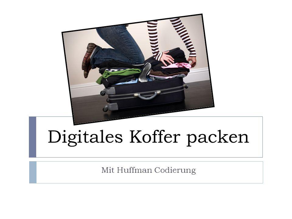 Digitales Koffer packen