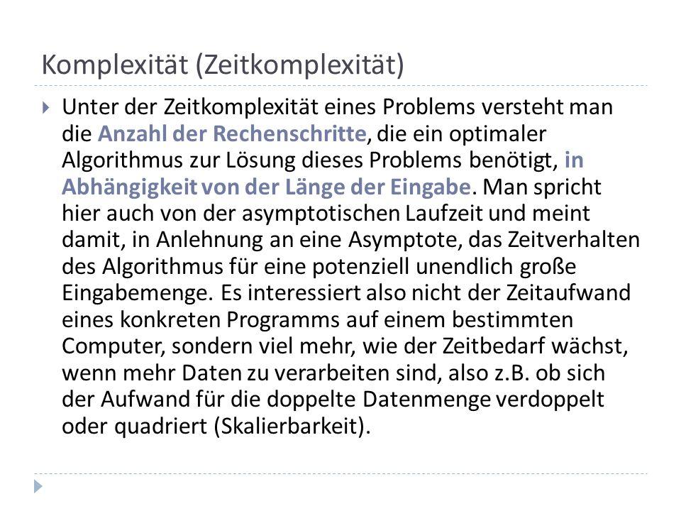 Komplexität (Zeitkomplexität)