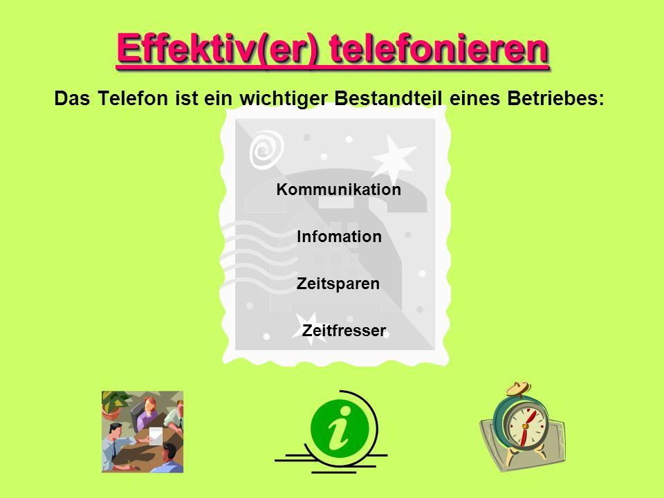 Effektiv(er) telefonieren