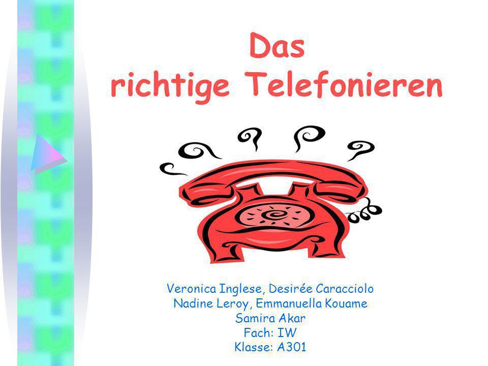 Das richtige Telefonieren