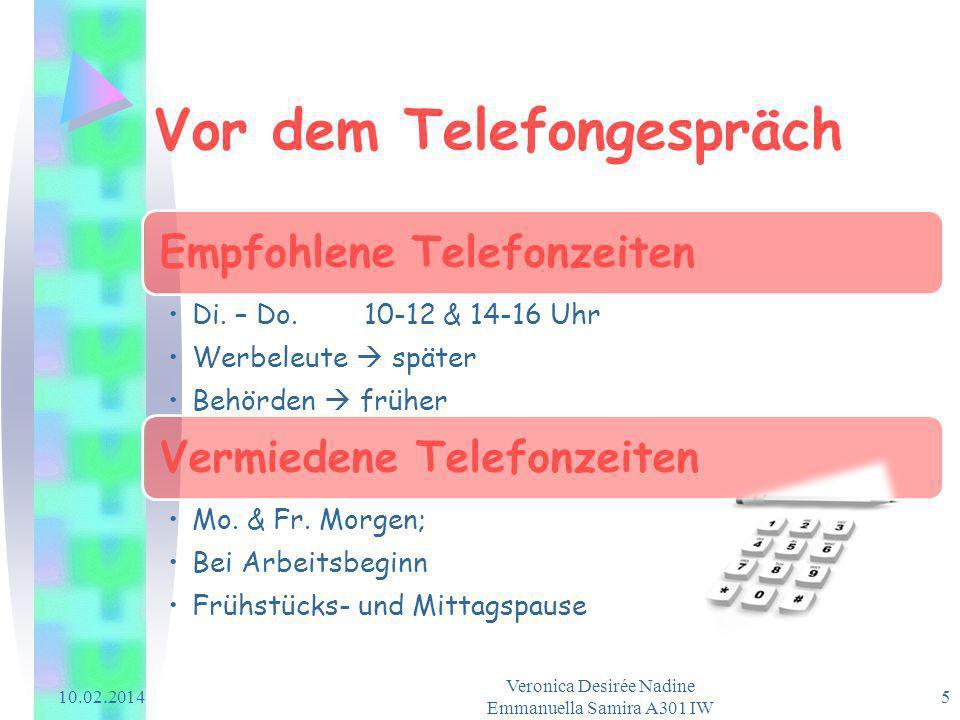 Vor dem Telefongespräch