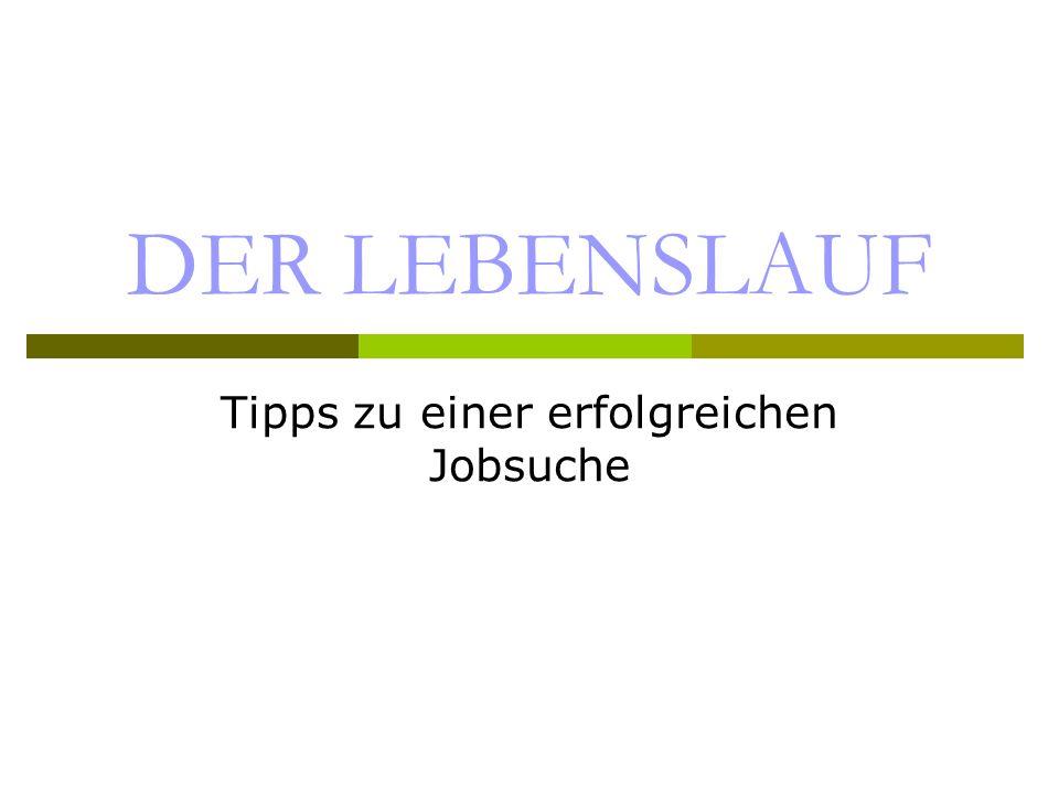 Tipps zu einer erfolgreichen Jobsuche