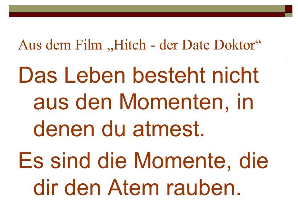 "Aus dem Film ""Hitch - der Date Doktor"