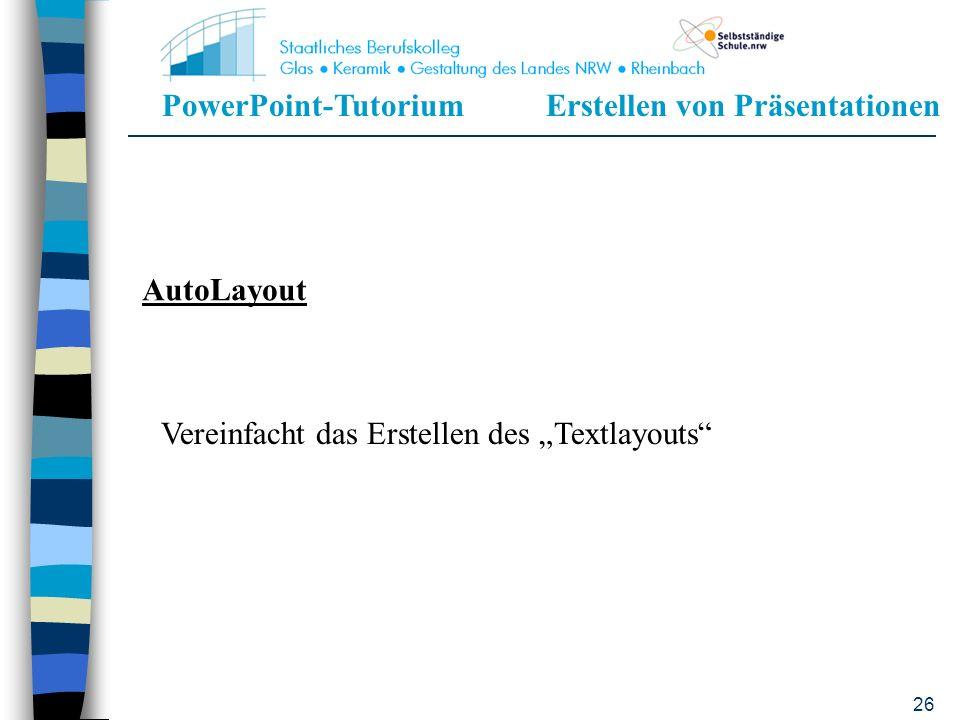 """AutoLayout Vereinfacht das Erstellen des """"Textlayouts"""