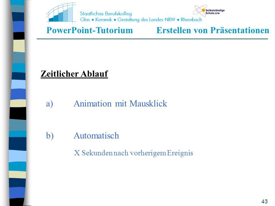 a) Animation mit Mausklick