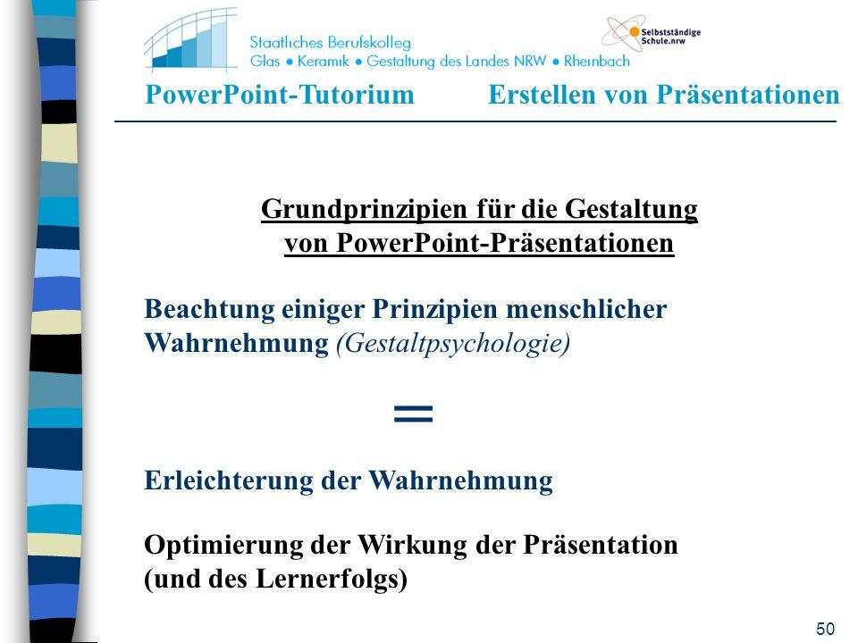 Grundprinzipien für die Gestaltung von PowerPoint-Präsentationen