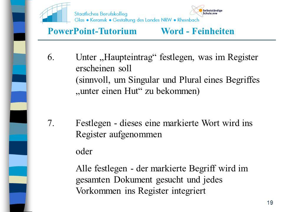 """6. Unter """"Haupteintrag festlegen, was im Register. erscheinen soll"""