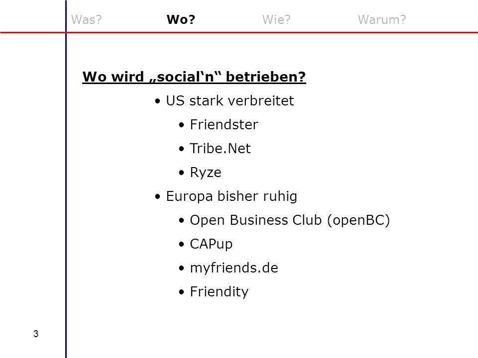 "Wo wird ""social'n betrieben US stark verbreitet Friendster Tribe.Net"