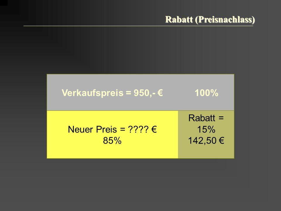 Rabatt (Preisnachlass)