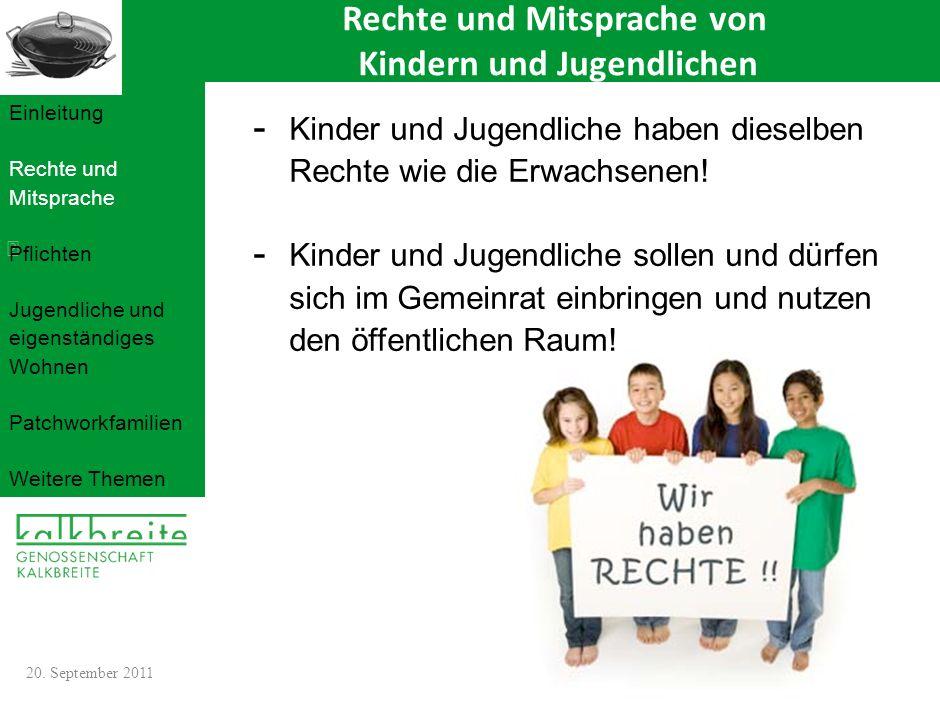 Rechte und Mitsprache von Kindern und Jugendlichen