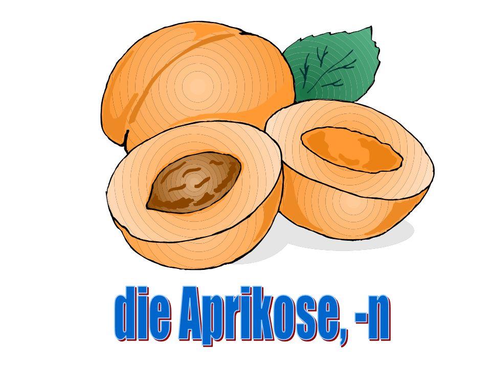 die Aprikose, -n