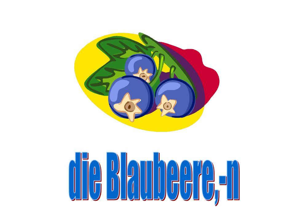 die Blaubeere,-n