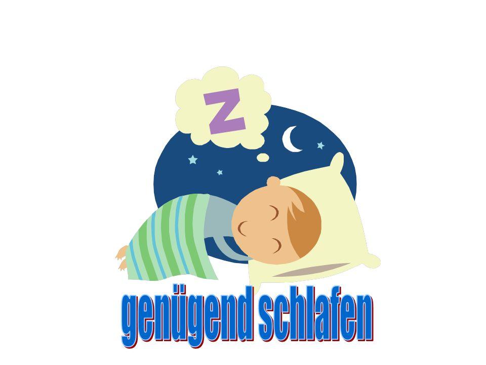 genügend schlafen