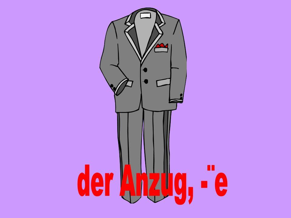 der Anzug, -¨e