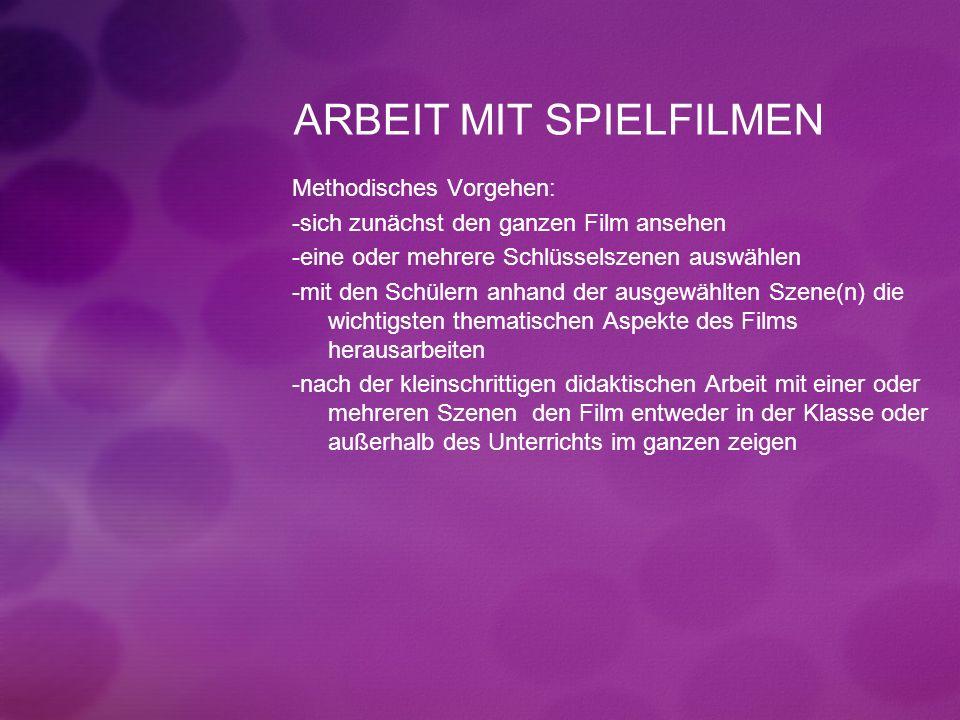 ARBEIT MIT SPIELFILMEN