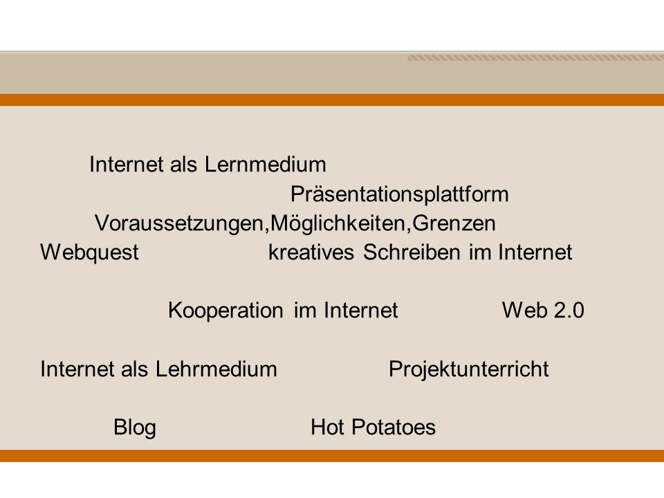 Internet als Lernmedium