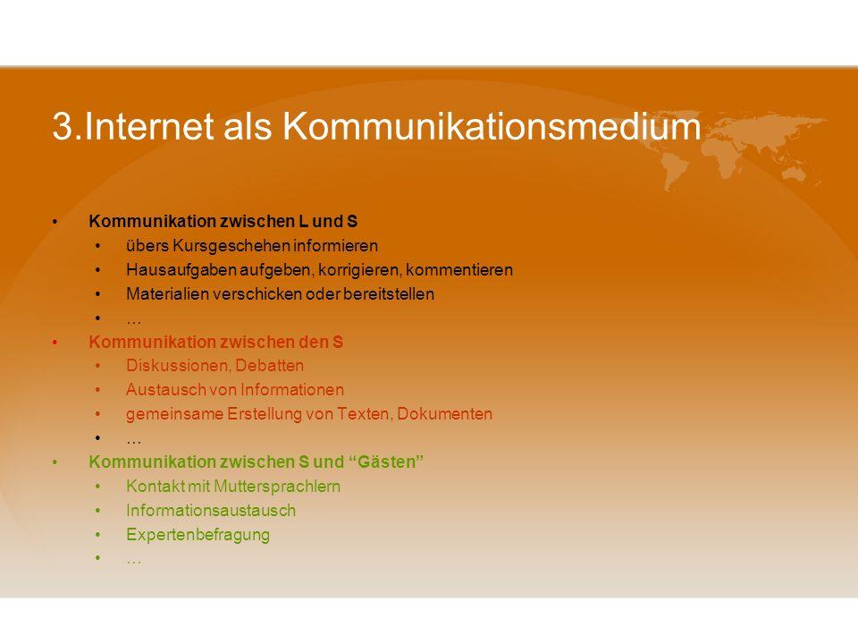 3.Internet als Kommunikationsmedium