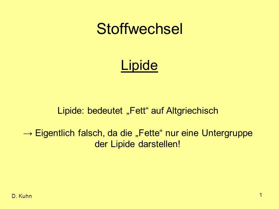 """Lipide: bedeutet """"Fett auf Altgriechisch"""